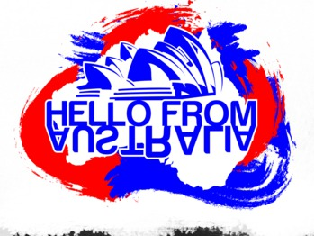 Hello from Australia - print loneleon australia from hello