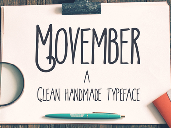 Movember typeface project - handlettering lettering font typography typeface