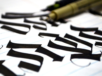 BlackLetter Calligraphy mix - lettering loneleon calligraphy typography blackletter